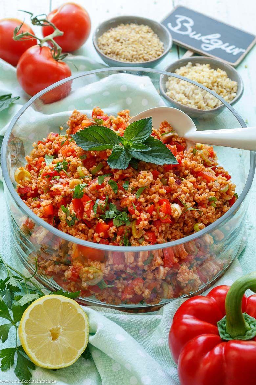 Schneller und einfacher Bulgursalat - emmikochteinfach #fingerfoodrezepteschnelleinfach