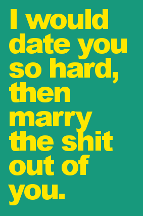 we skipped the dating bit, but you know...