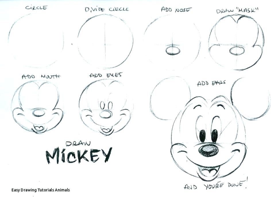 Mickey Mouse Step By Step Easy Draw Mouse Easy Drawing Tutorials Animals Mickey Mouse Easy Drawing At How To Draw A Baby Mickey Mouse Step En 2020 Atelier Enfant Ovide