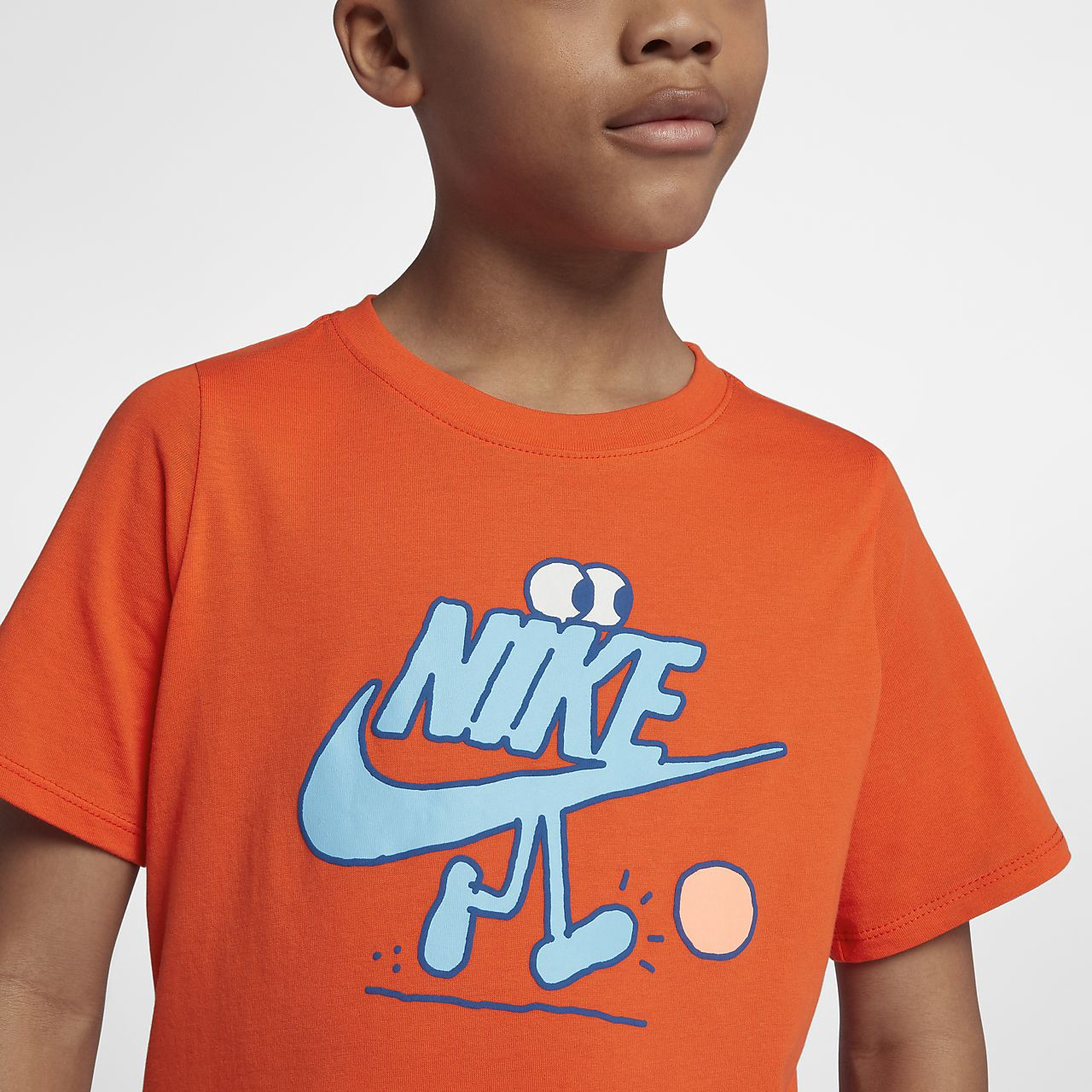 8f206683eeb Nike Sportswear Big Kids  (Boys ) T-Shirt - M (10-12) Orange ...