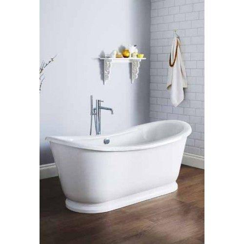 Premier Bathroom Design Alice Double Ended Slipper Freestanding Bath With Skirt Brand