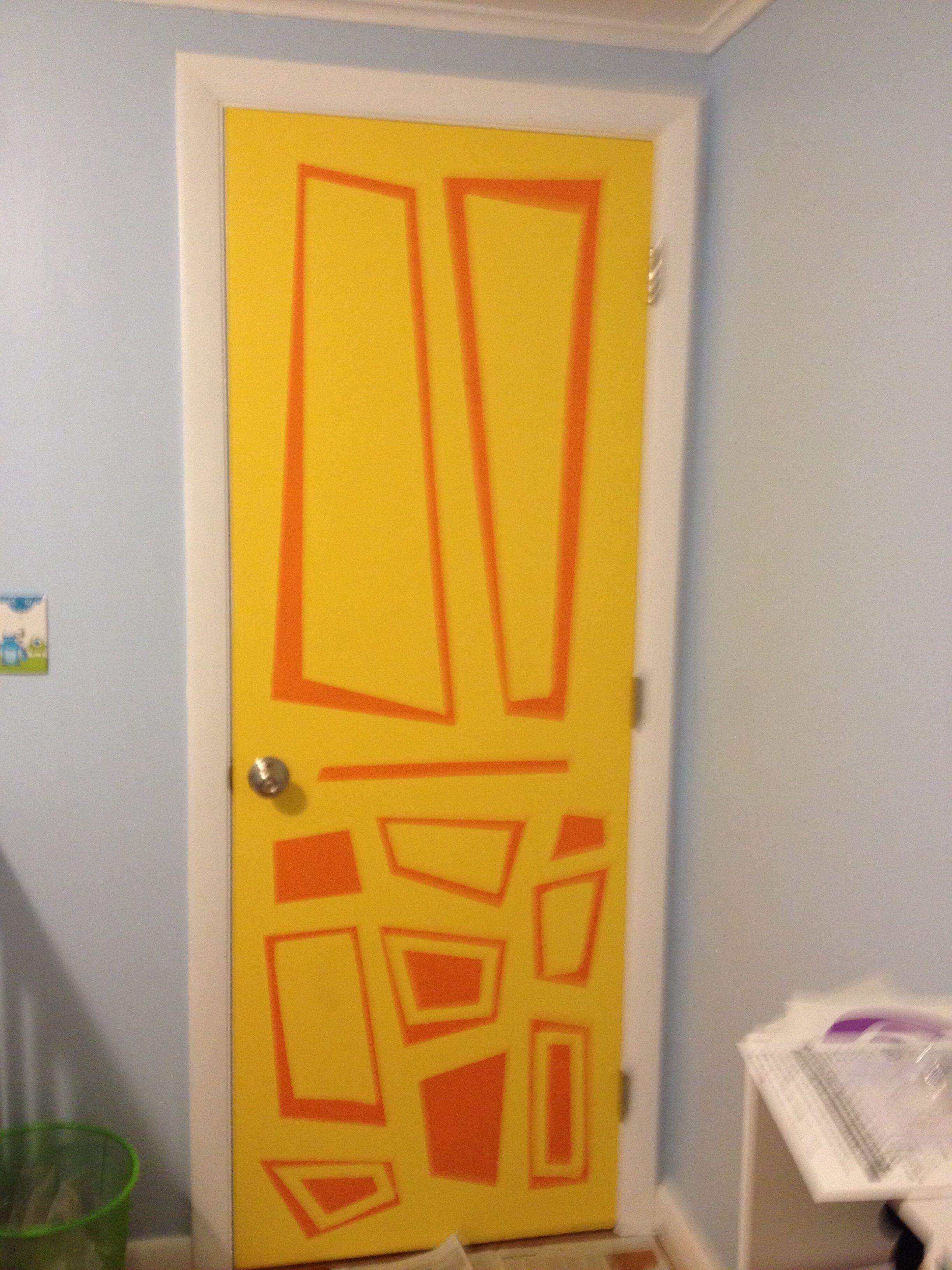 Monsters Inc Inspired Door In Babys Nursery