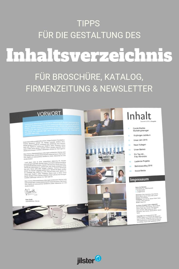 Inhaltsverzeichnis Erstellen Fur Deine Zeitschrift Jilster Blog Inhaltsverzeichnis Broschure Zeitschriften