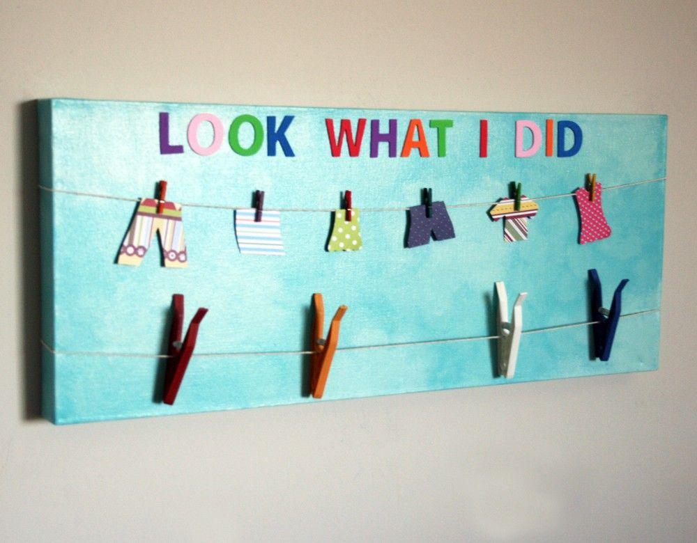 Art display board for children artwork canvas for kids