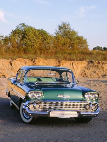 Photographic Print: 1958 Chevrolet Biscayne : 12x9in