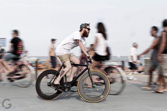 Fixed Gear And Beard Fahrrad Fixie Singlespeeder