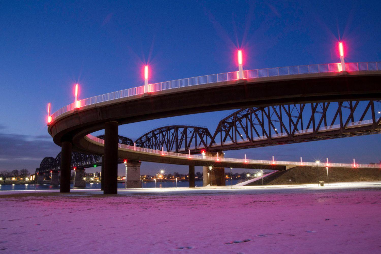 Kentucky to Indiana, 4th Bridge by FlamingoArtStudio on Etsy