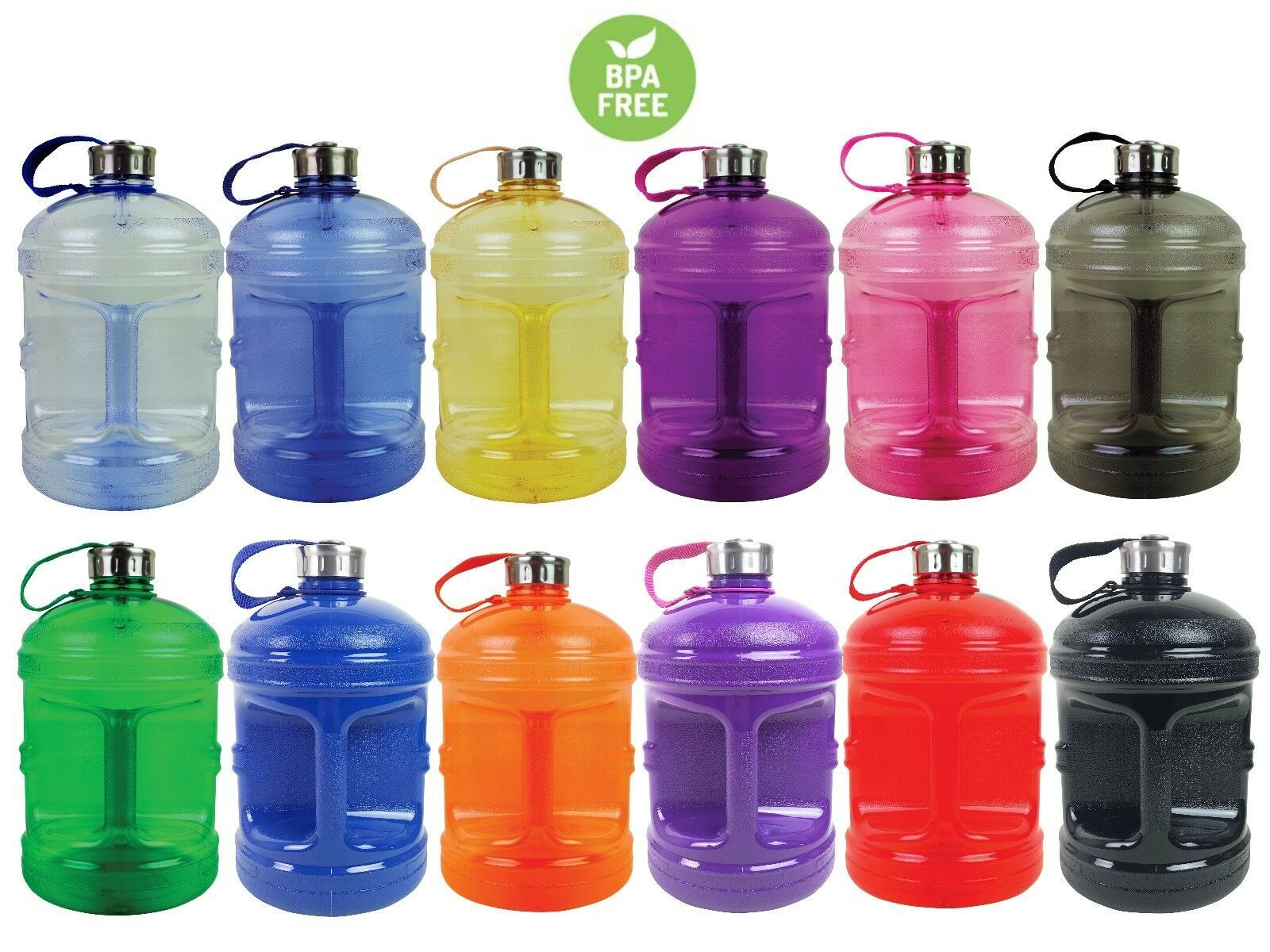Bpa Free 1 Gallon Water Bottle Steel Cap Drinking Canteen Jug Container 128 Oz Bottle Ide Gallon Water Bottle Water Bottle Containers 1 Gallon Water Bottle