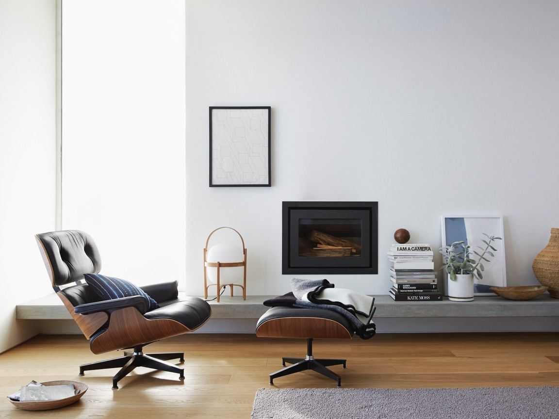 Eames Lounge Chair Living Room eames lounge chair and ottoman   chair, ottoman, furniture