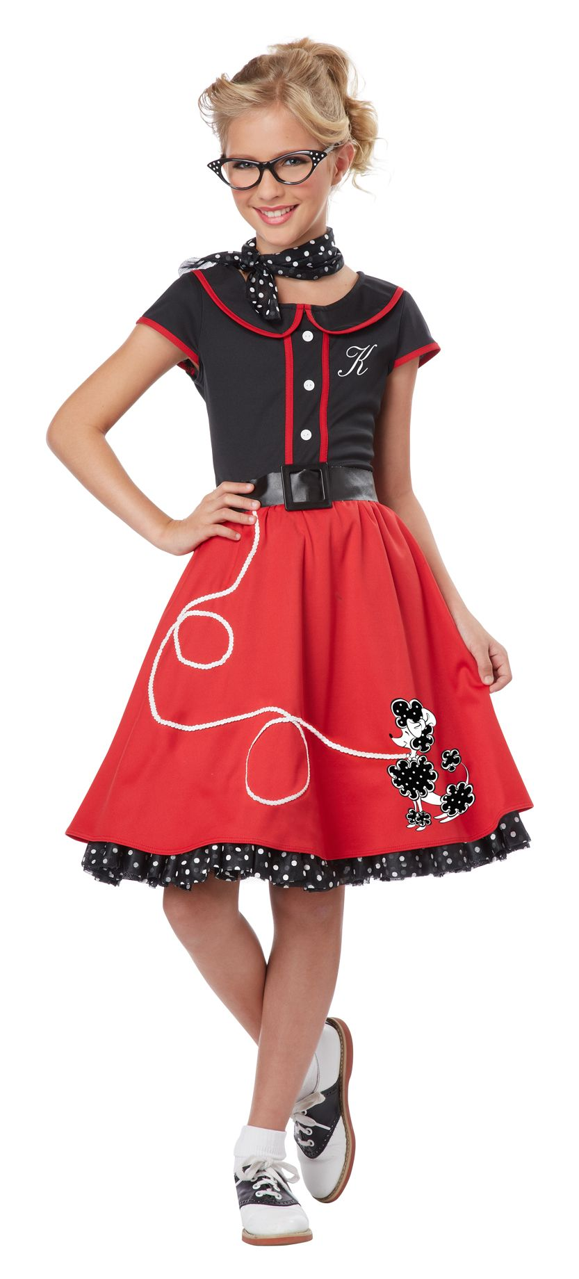 74568139fb83 50s Sweetheart Girls Sock Hop Costume- A cute throwback costume for summer  sock…