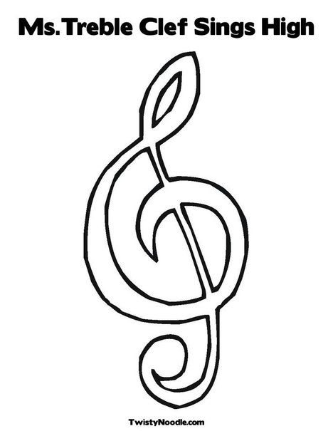 Ms Treble Clef Sings High Treble Clef Coloring Pages Music Notes