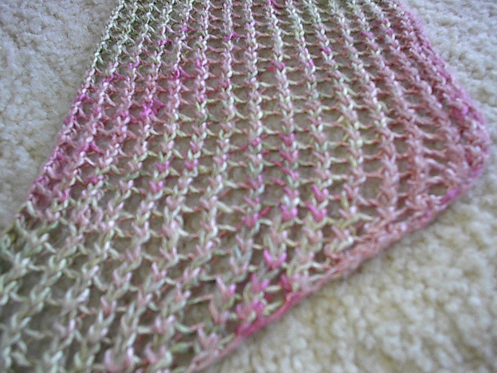 Easy Lace Knit Shawl/Scarf | Knitting | Pinterest