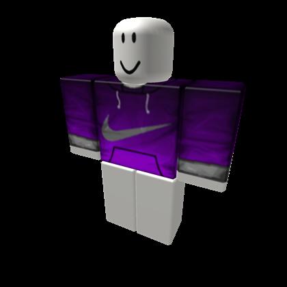 Purple Nike Fade Hoodie - ROBLOX