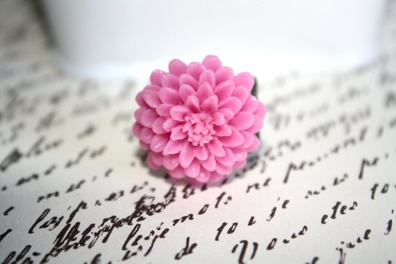 Lilac Flower Ring, Adjustable Ring, Filigree Ring, Floral Jewelry,