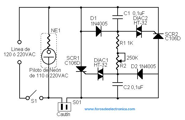 control de temperatura para cautin