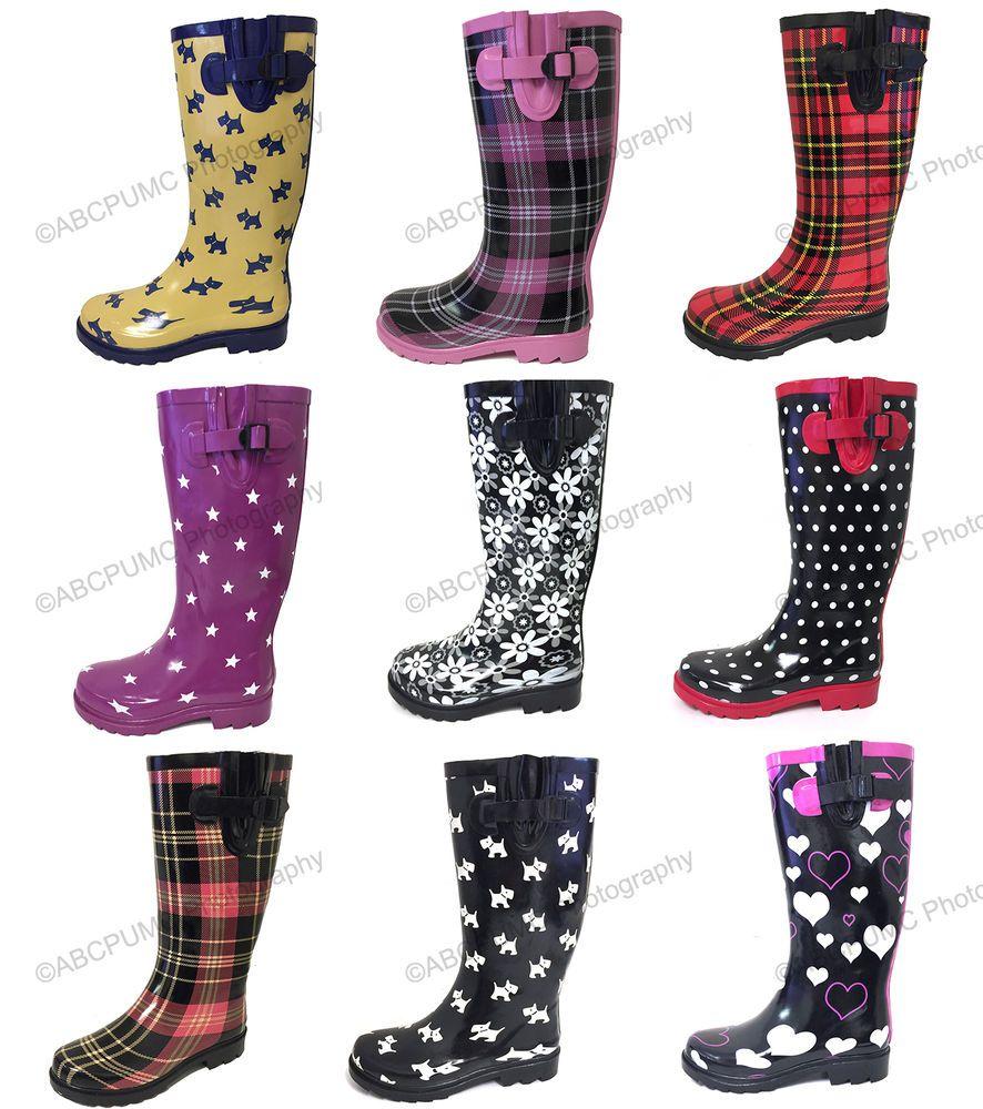 Women's Rain Boots Rubber Waterproof
