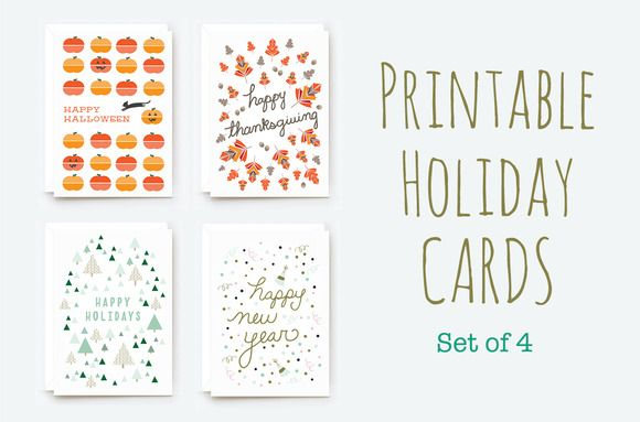 Check out Printable Winter Holiday Cards by morganalamson on - printable christmas card templates