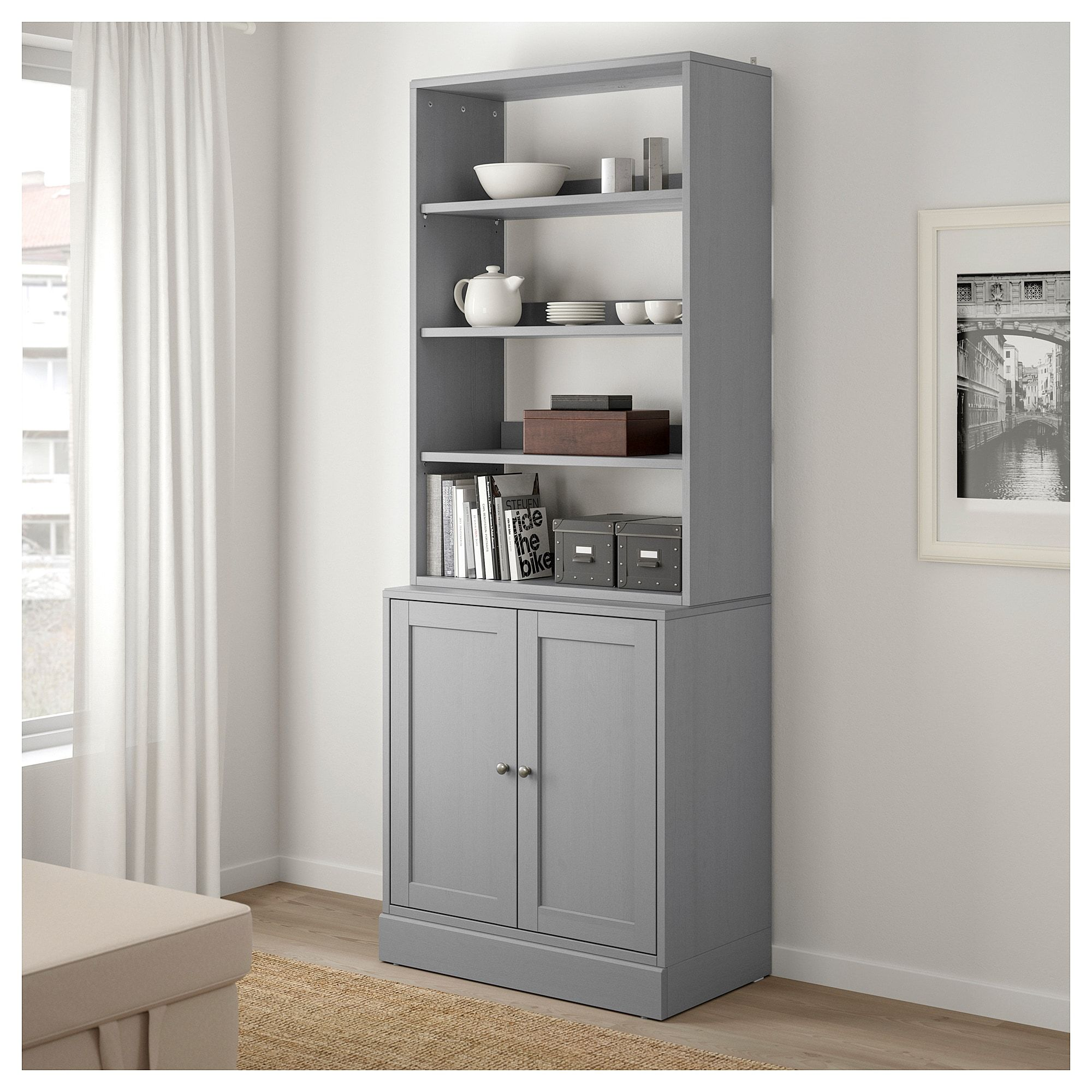 Best Ikea Havsta Storage Combination Gray Shelves Ikea 400 x 300