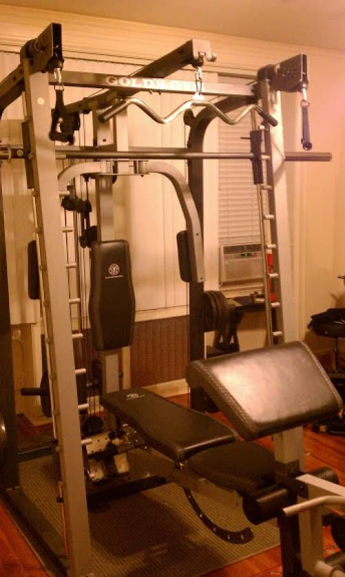 Gold S Gym Smith Machine Installed In Washington Dc By Any Assembly Home Gym Machine Gym Workouts Machines Home Gym