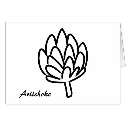Artichoke vegetable globe artichokes edible flower thank you card | Zazzle.com