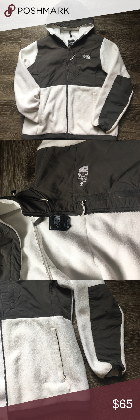 Grey u white fleece lined jacket utility jacket retail and gray