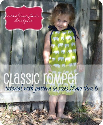 carolina fair: Sewing Tutorial with Pattern: The Classic Romper