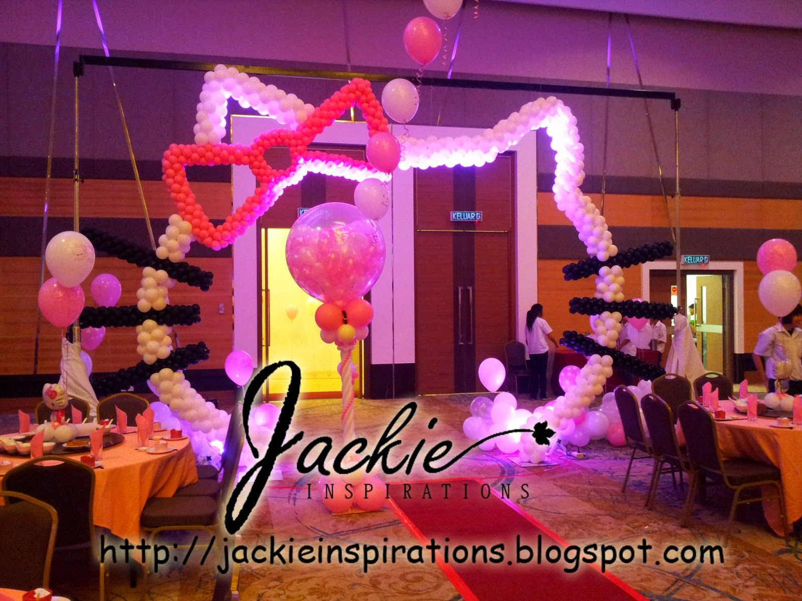 Balloon decorations for weddings birthday parties balloon balloon decorations for weddings birthday parties balloon sculptures in kuching and sibu sarawak hello kitty theme balloon decoration kingwood hotel junglespirit Image collections