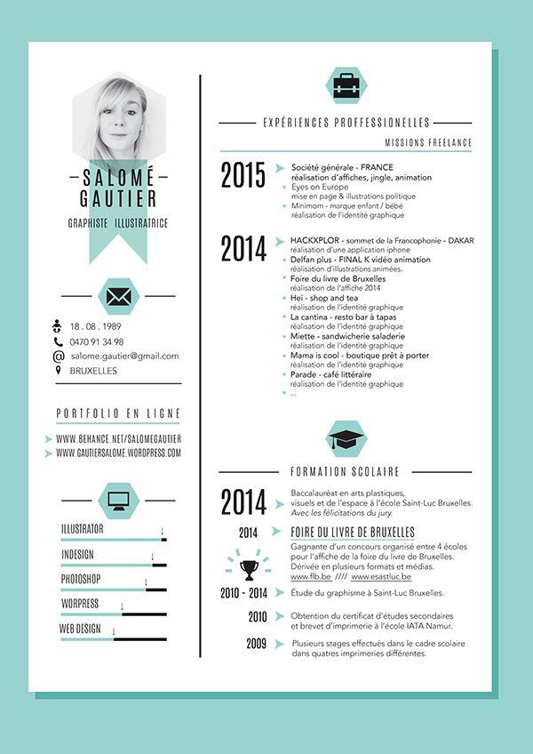Curiculum Vitae Portfolio On Behance Resume Design Resume Design Inspiration Curiculum Vitae