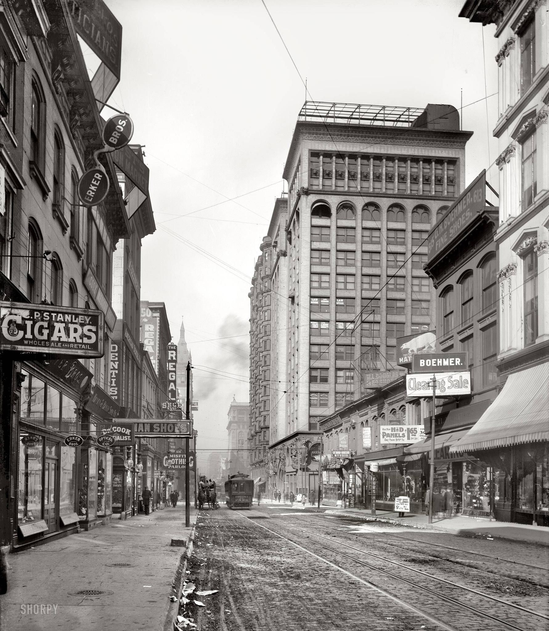 West Brothers Sullivan Mo >> St Louis Missouri Circa 1900 Olive Street West From