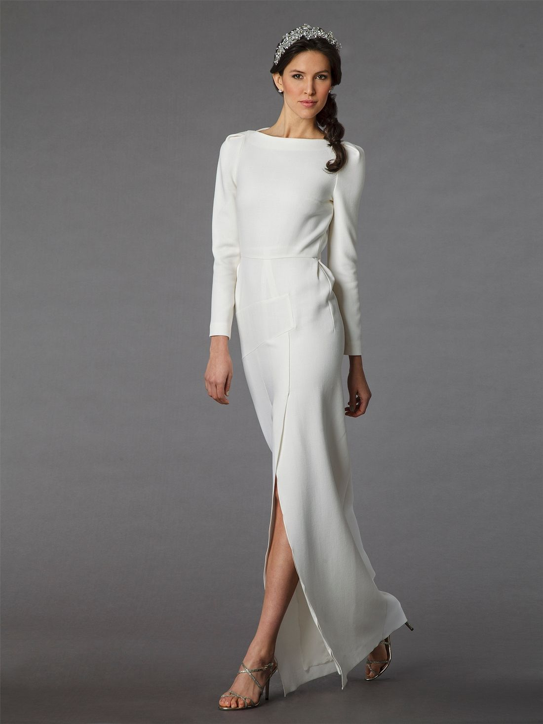 Kleinfeldbridal Roland Mouret Bridal Gown 32835381 Sheath Natural Waist