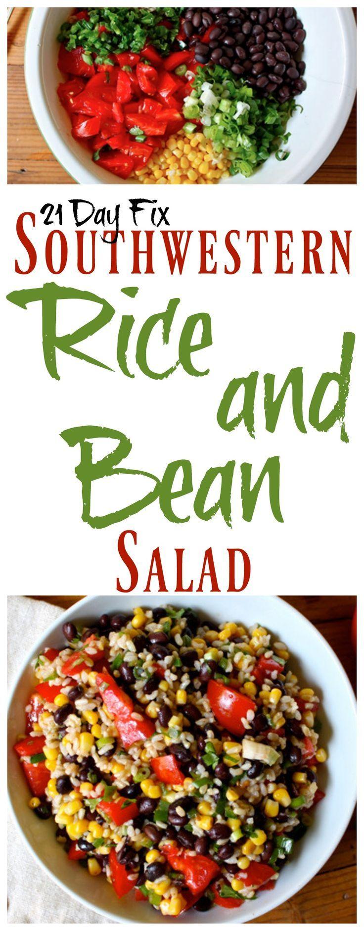 21 Day Fix Rice and Bean Salad #21dayfix #21dayfixrecipes…