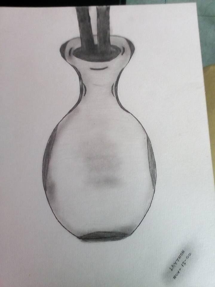 Jarron Dibujos A Lapiz Carboncillo Lapiz Carboncillo Jarrones
