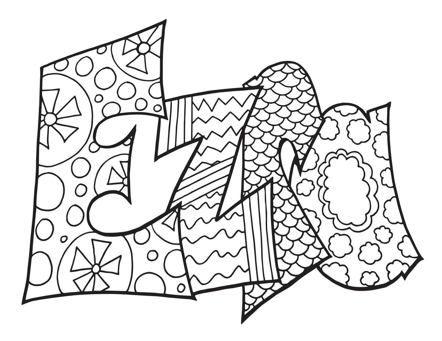 CLICK HERE TO DOWNLOAD YOUR FREE EZRA COLORING PAGE Any name or word turned  into a printable coloring pag… | Coloring pages, Coloring books, Free coloring  pages