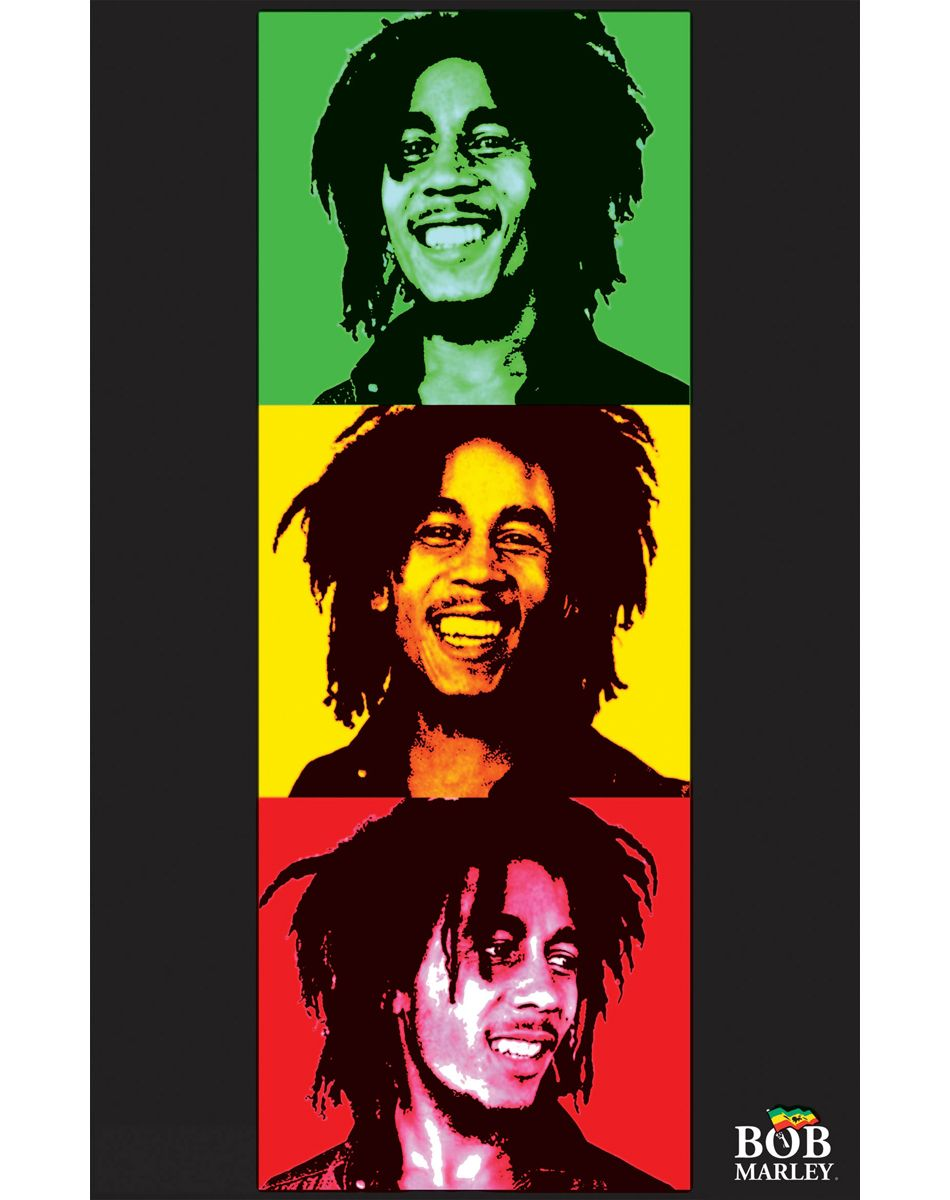 Bob Marley Rasta Black Light Poster - $11.99 (my personal images are used in my