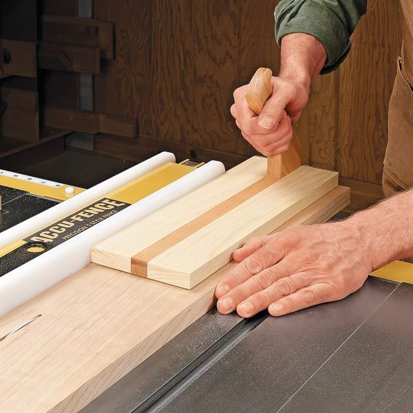 Ripping Wood On Table Saw