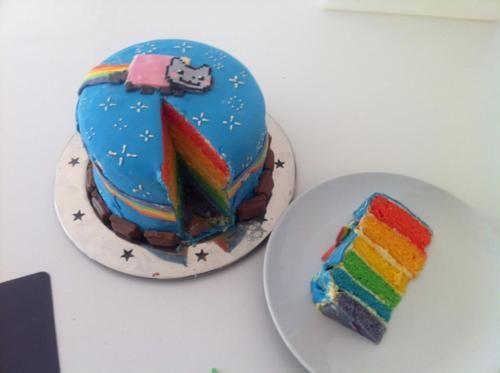 """Nyan Cat Rainbow Cake"""