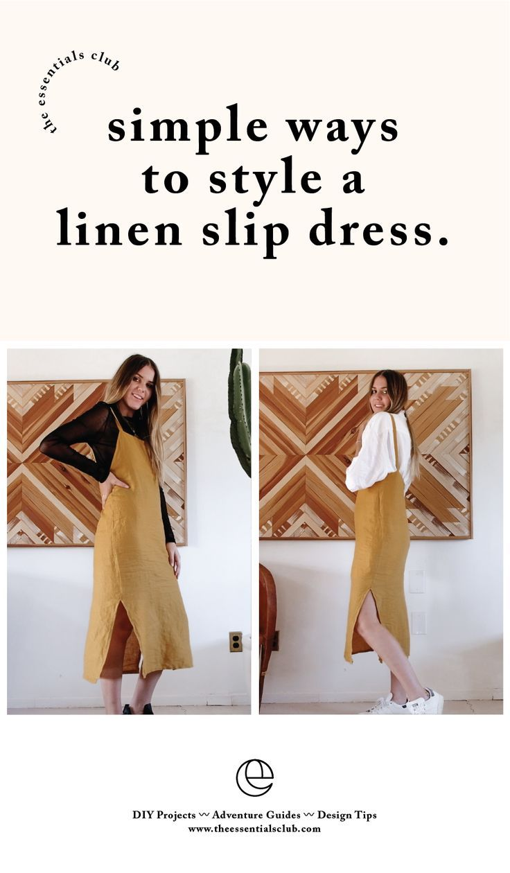 Simple Ways to Style a Slip Dress