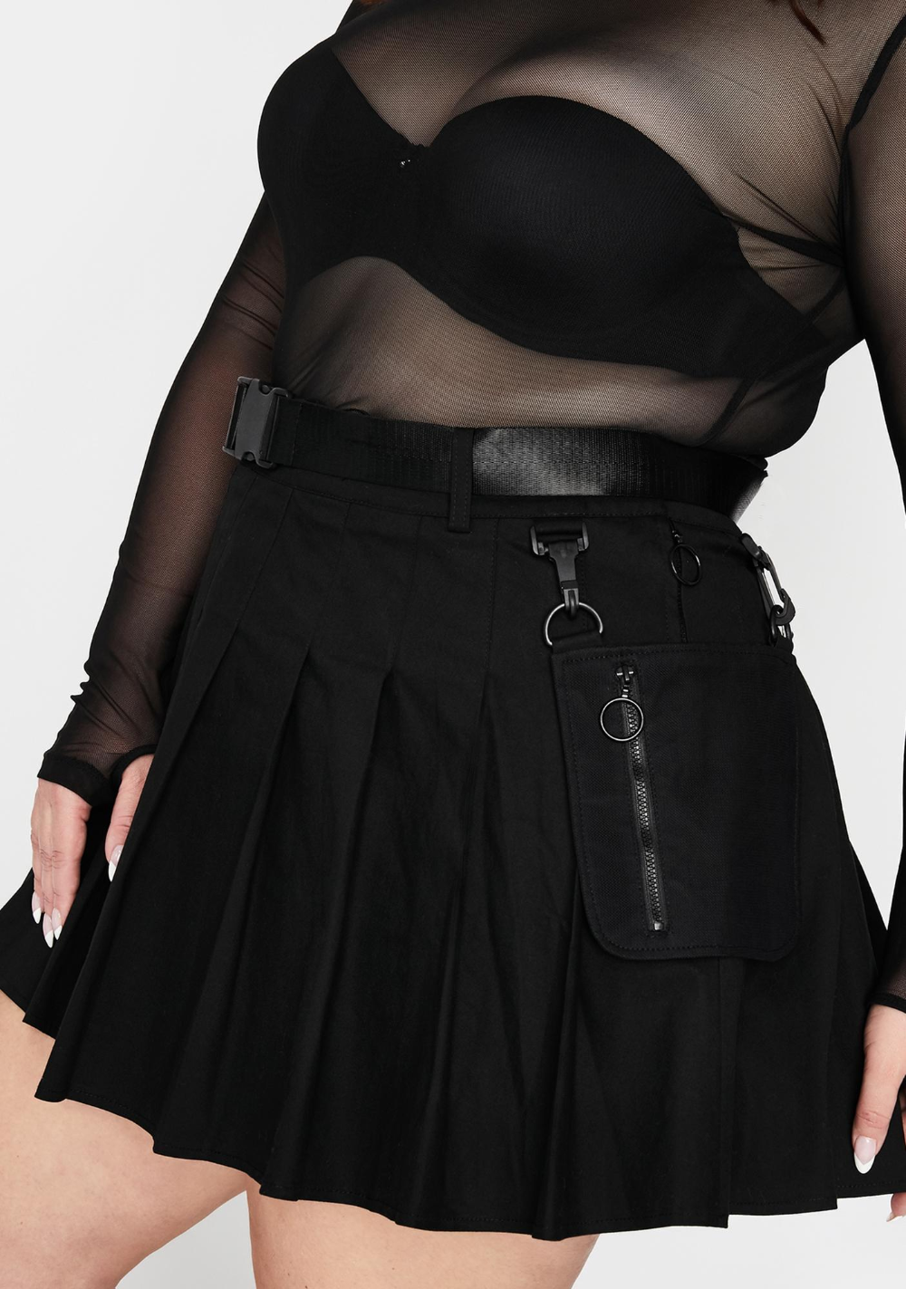 Devious It S High Security Utility Skirt Devious It S High Security Utility Skirt Plus Size Cur In 2020 Fashion Inspo Outfits Plus Size Mini Skirts Plus Size Grunge