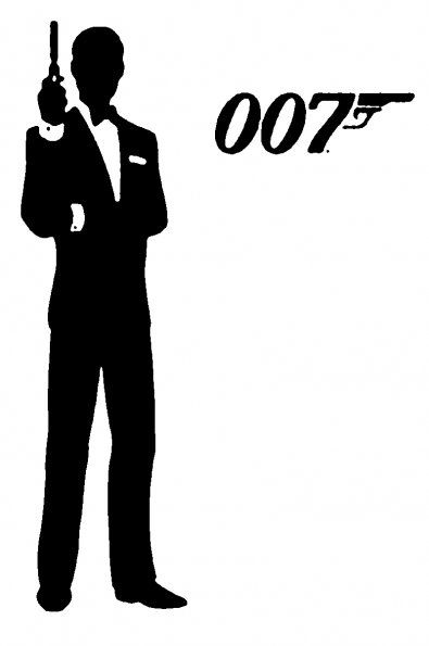 007 stencil from stencilry lots of free downloadable stencils from here james bondjames darcyscherenschnittesilhouette