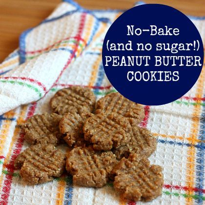 No-Bake (and sugar/gluten free) Peanut Butter Cookies - Ella and I SCARFED these up yesterday. Easy and delicious.