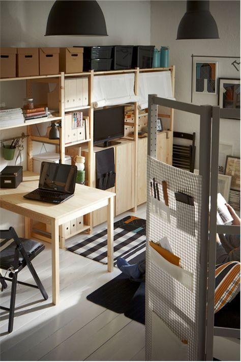 aus regalseitenwand selbst einen raumteiler paravant bauen zb ivar von ikea inredning. Black Bedroom Furniture Sets. Home Design Ideas