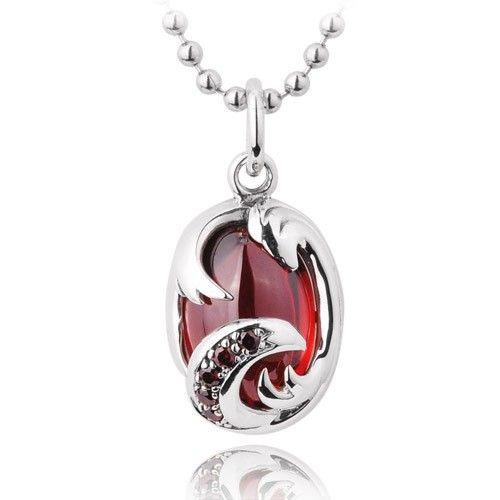 925 sterling silver big red gemstone pendant necklace zivpin 925 sterling silver big red gemstone pendant necklace zivpin aloadofball Gallery