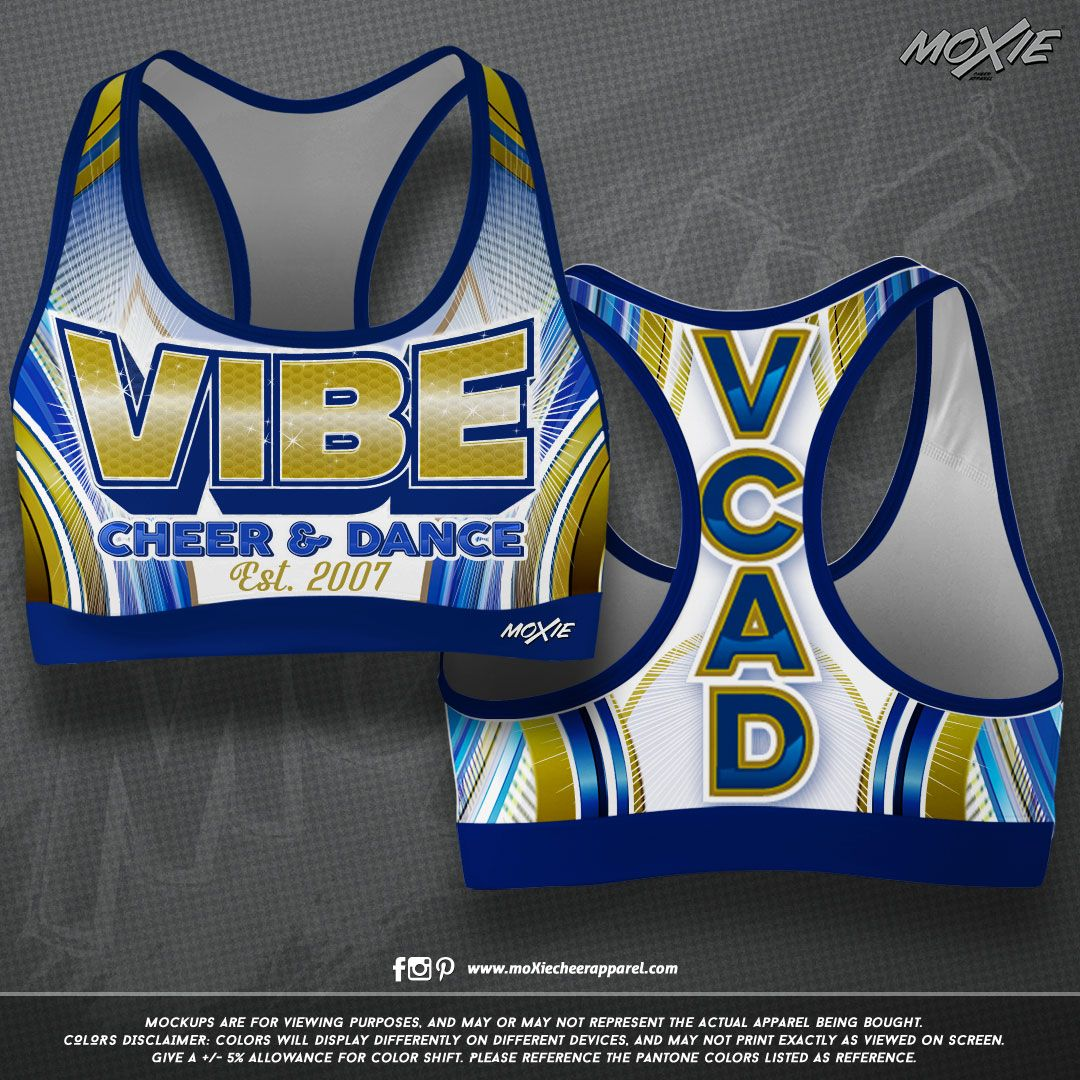 e7768f066b9a NEW custom sublimated sports bras for Vibe Cheer   Dance Allstars!   moxiecheerapparel  vibecheeranddance  cheerapparel  cheerleading   customapparel ...
