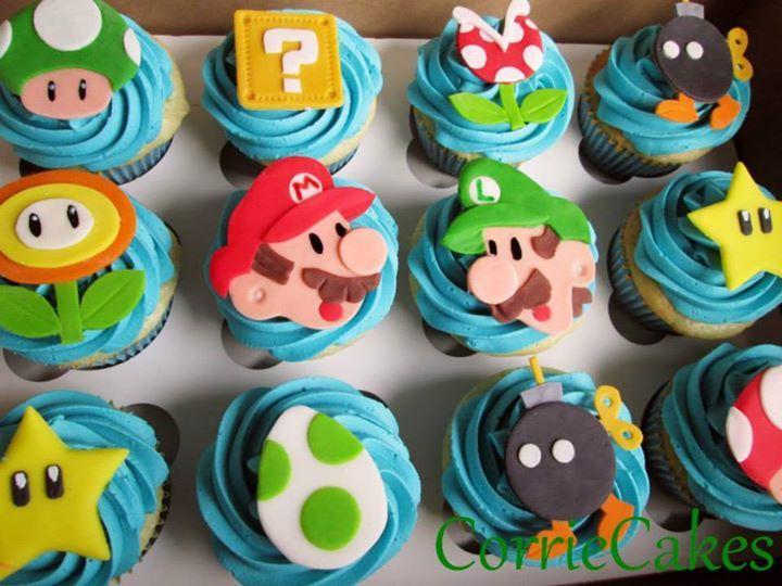Super Mario Cupcake Toppers Braycin Bday Super Mario
