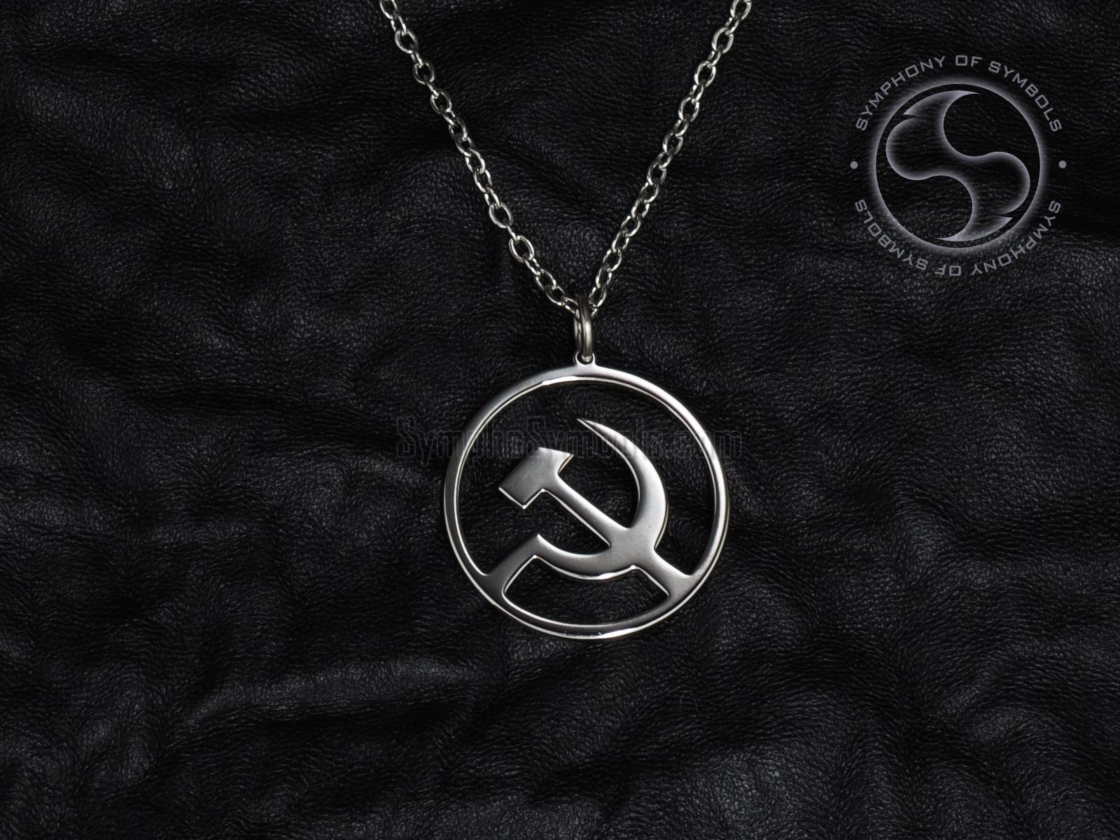 Hammer And Sickle Pendant Communist Symbol Ussr Necklace Soviet