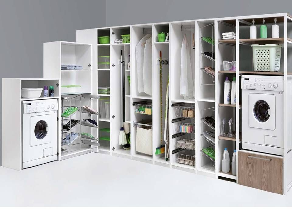 Attrezzatura interna lavanderia ripostiglio stireria - Armarios para lavaderos ...