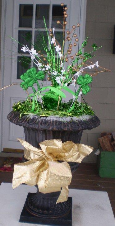 st patrick 39 s day urn irish lass love pinterest urn saints and holidays. Black Bedroom Furniture Sets. Home Design Ideas