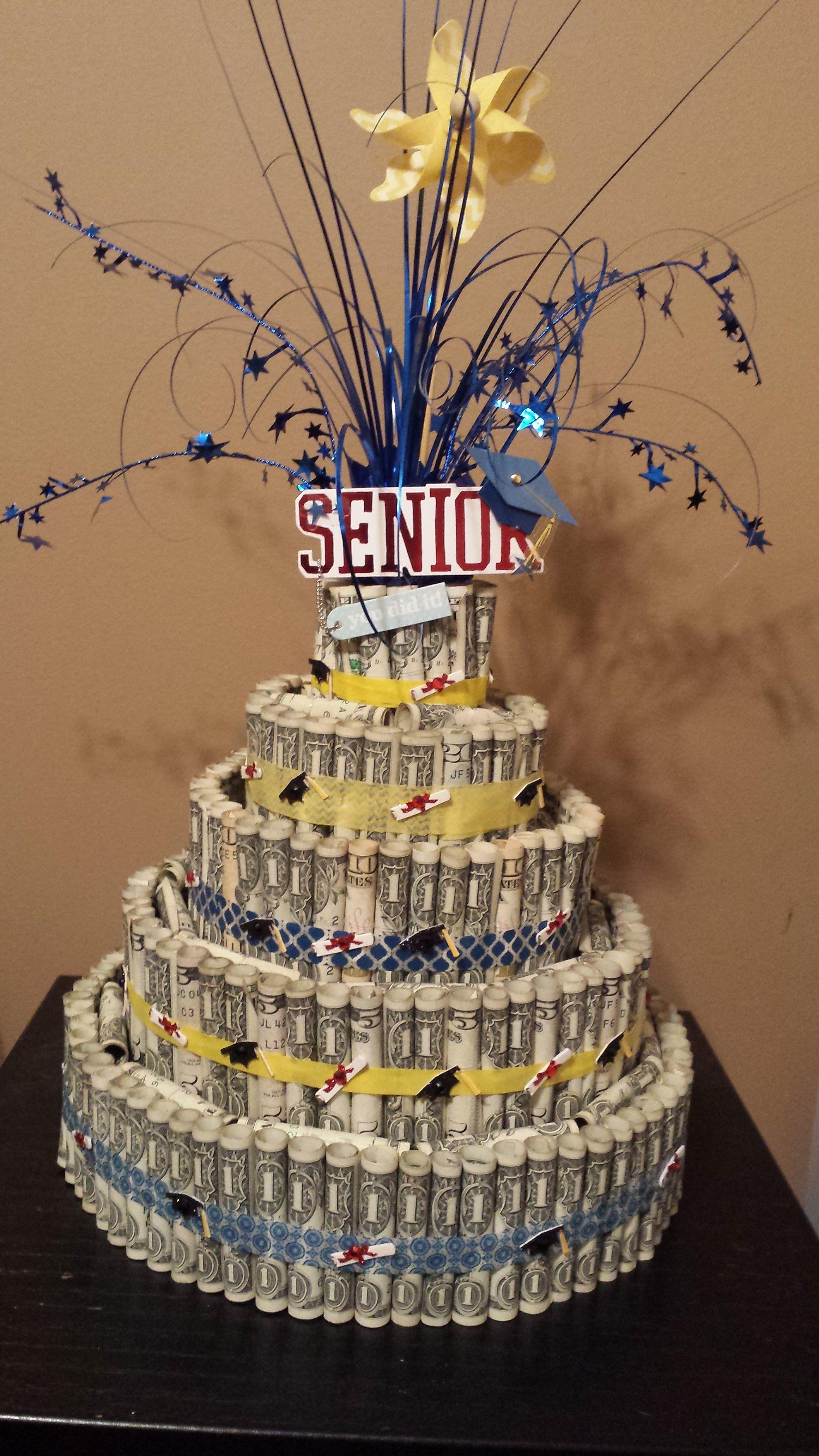 Senior Graduation Money Cake Decorations Graduation