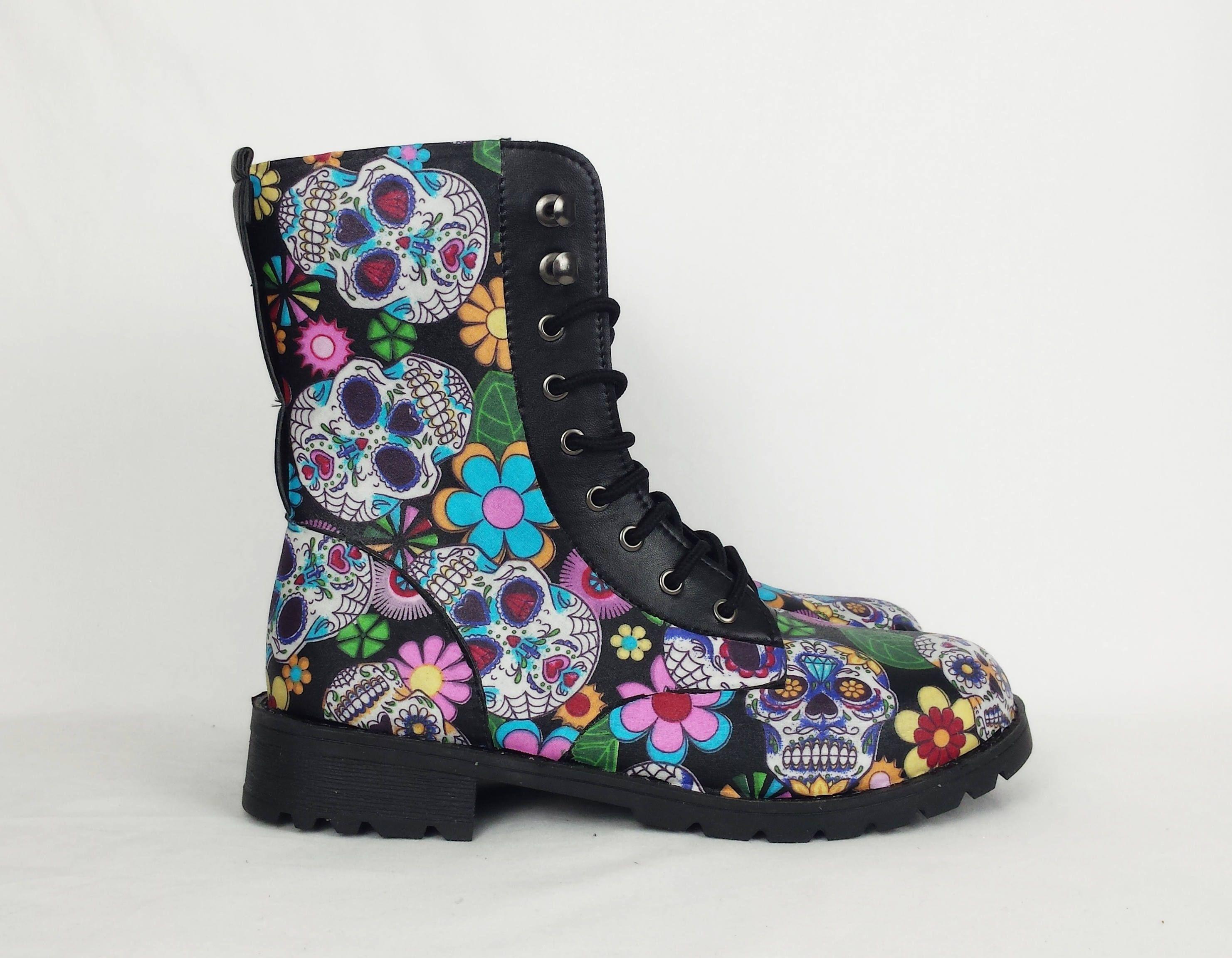 Sugar Skulls, sugar skull shoes, day of the dead, skull boots ...