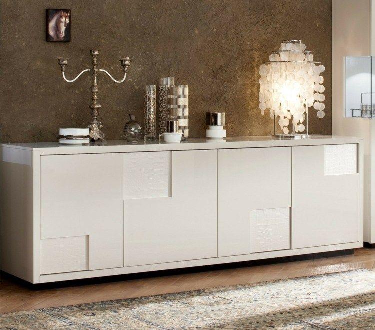 Designer Möbel Sideboard Aus Matt Und Hochglanz Paneelen